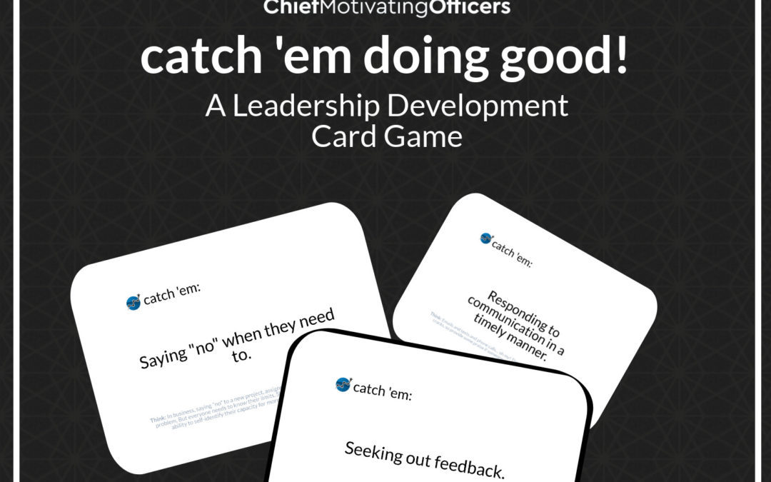"""What's the Catch?"" A Catch 'Em Doing Good Card Game"